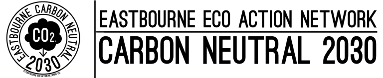Eastbourne Eco Action Network logo - carbon neutral 2030