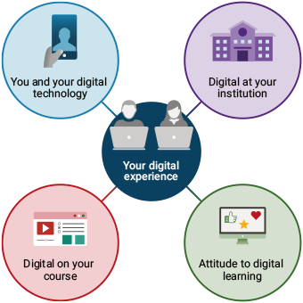 Four areas of student digital experience